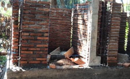 Tahap Pembangunan Dinding Wc, Maros