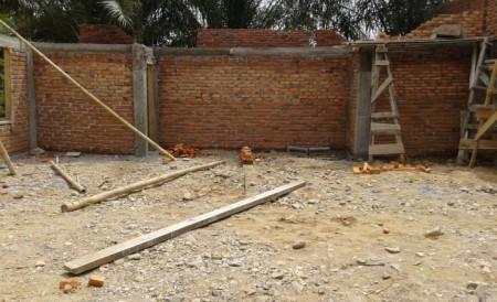 Tahap pekerjaan dinding masjid karrosa