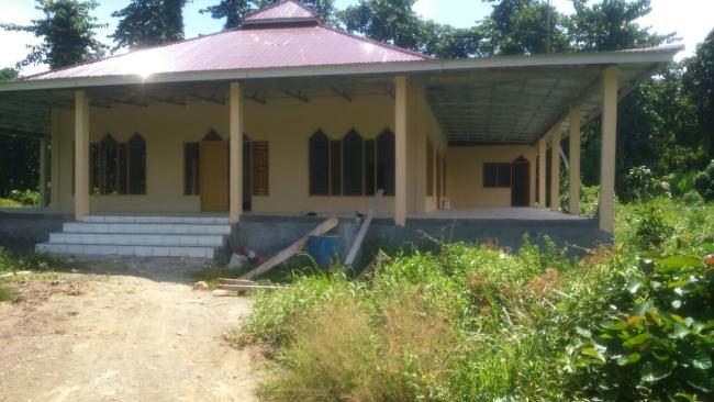 Tampak Depan Masjid Pasang Kayu, Selesai