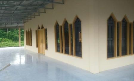Tampak Samping Masjid Pasang Kayu 1, Selesai