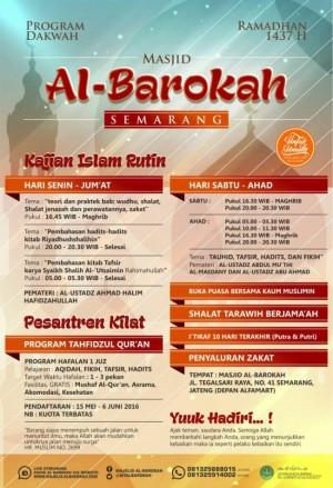 Program Dakwah Ramadhan 1437 H Masjid Albarokah