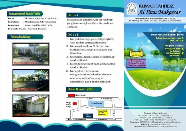 Rumah Tahfidz Al Ilmu (Bag. Depan)