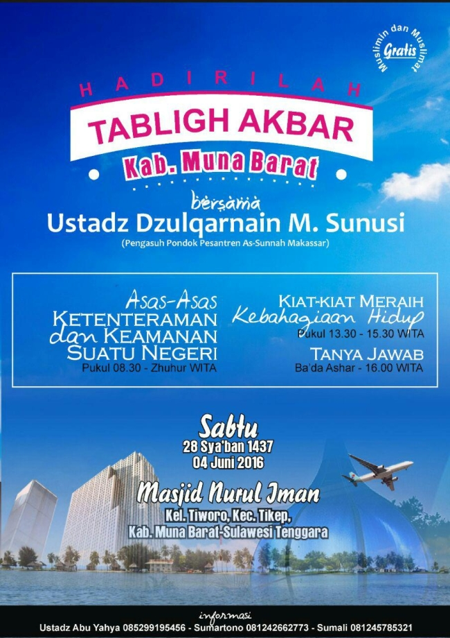 Tabligh akbar kab Muna Barat