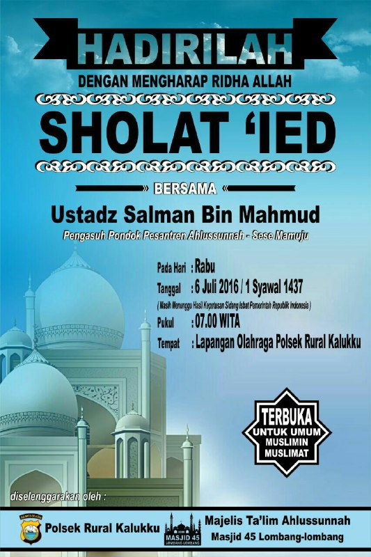 Shalat Id Ust Salman Mahmud
