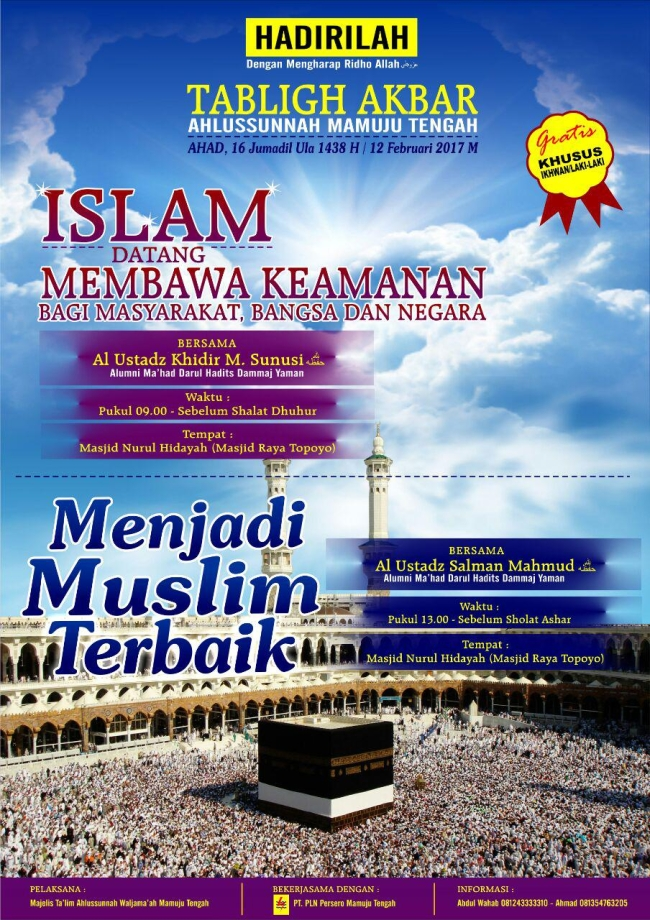 Islam Datang Membawa Kemanan