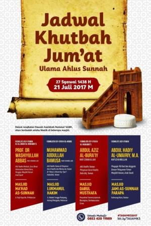 Jadwal Khutbah jumat Masyaikh 2017