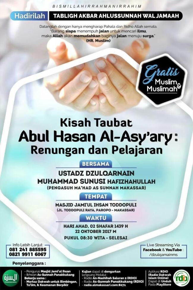 Kisah Taubatnya Abul Hasan Al Asyary