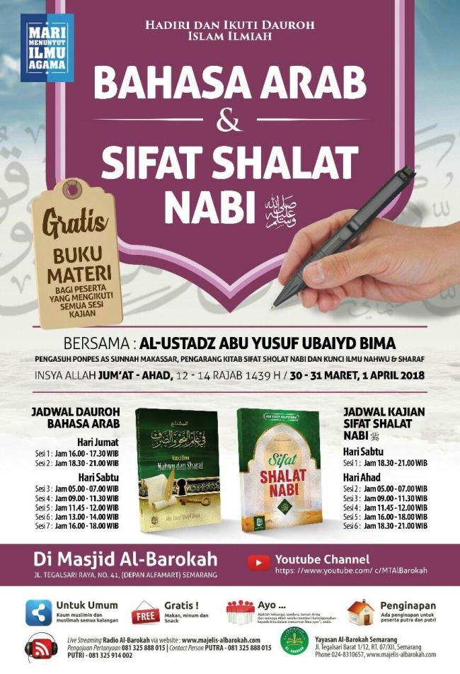 Bahasa arab dan sifat shalat nabi