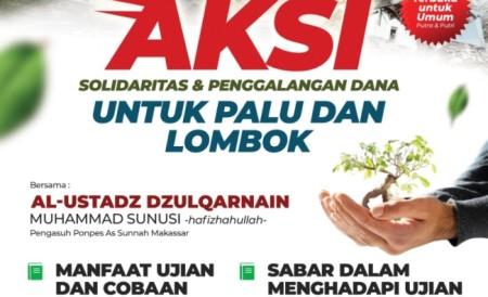 Aksi Solidaritas dan penggalangan dana untuk Palu dsan lombok