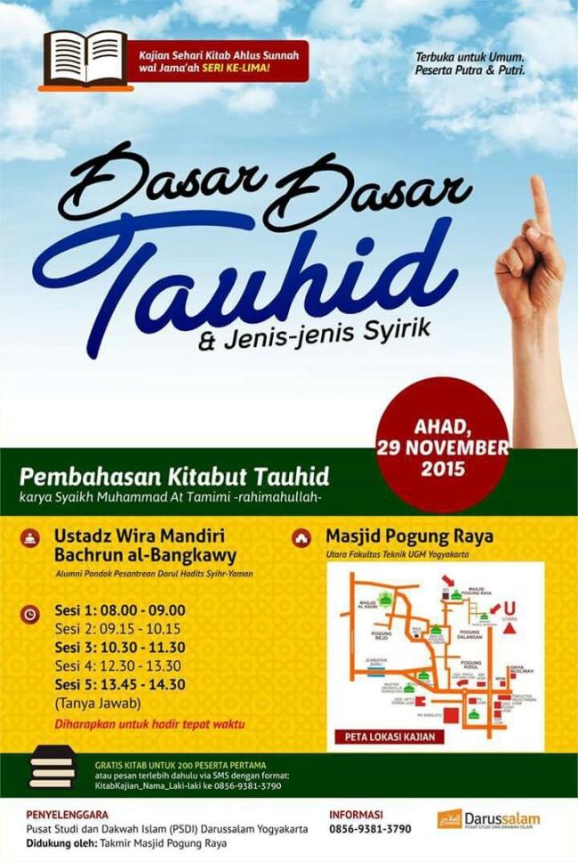 Kajian Sehari Dasar-Dasar Tauhid dan Jenis-Jenis Syirik - Yogyakarta