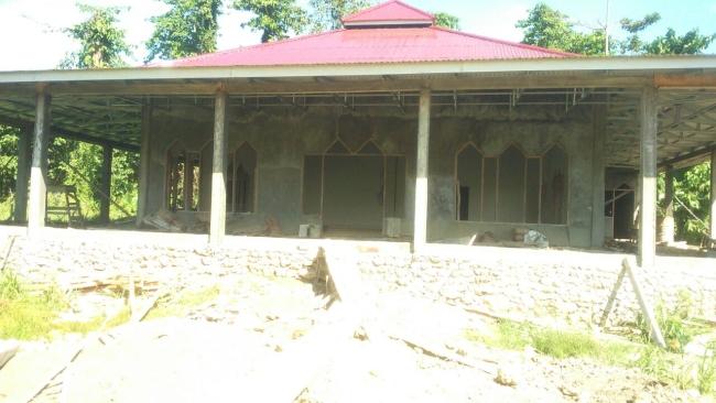 Tahap pengacian masjid pasang kayu 5