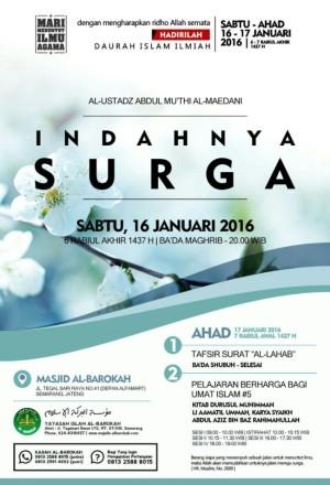 Daurah Islam Ilmiah Indahnya Surga - Semarang