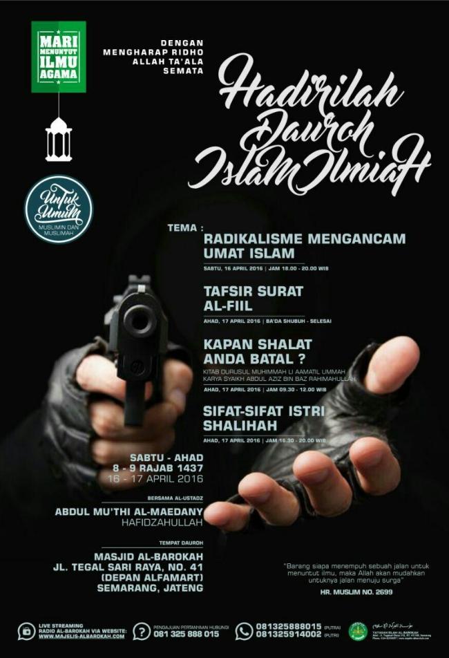 Daurah Islam Ilmiah Radikalisme Mengancam Umat Islam