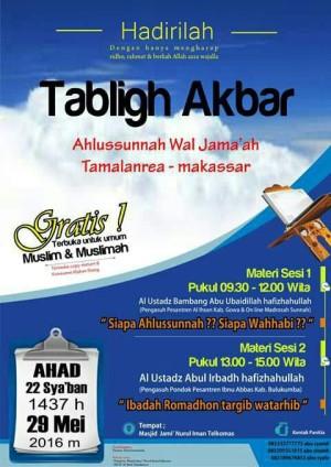 Tabligh Akbar di Tamalnrea Makassar