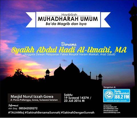 Daurah Syaikh di Masjid Nurul izzah