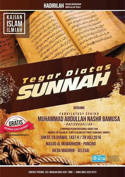 Tegar Diatas Sunnah
