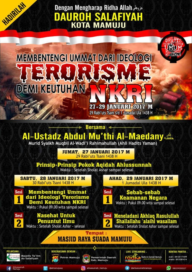 Membentengi Umat dari Idiologi Terorisme demi Keutuhan NKRI