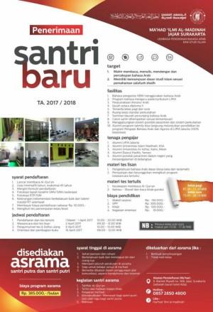 Penerimaan Santri Baru Mahad Al-Madinah Surakarta
