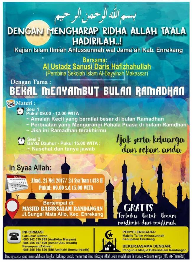 Bekal menyambut ramadhan