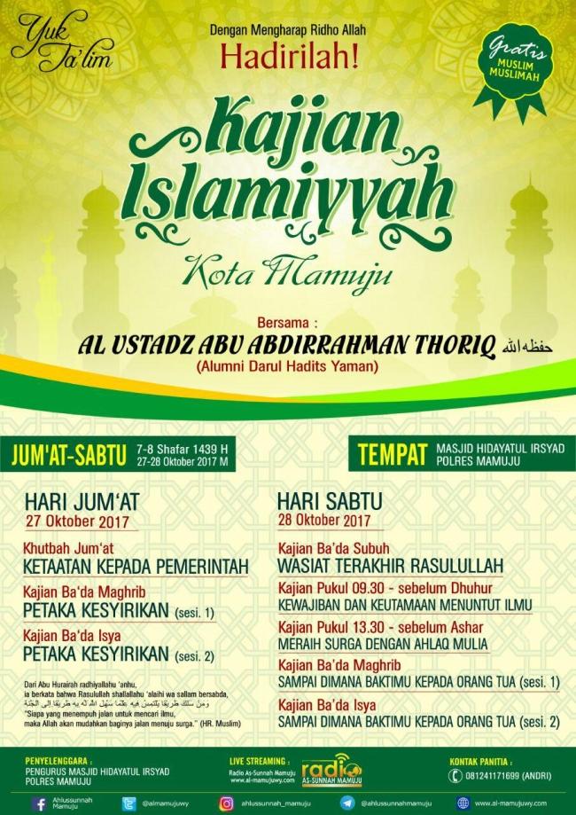 kajian islamiyah kota mamuju