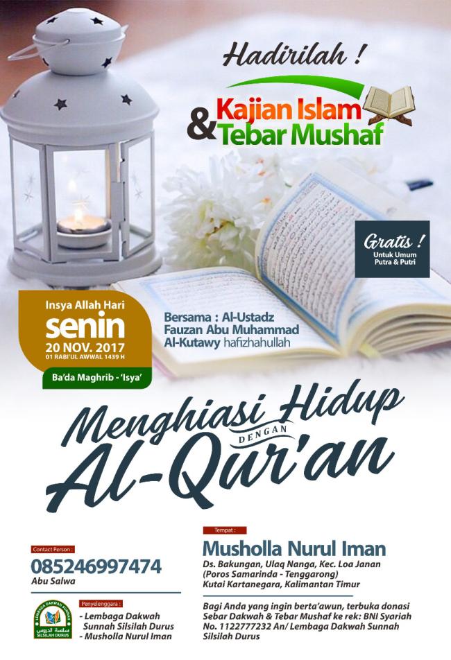Menghiasi hidup dengan AlQuran