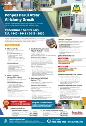 Penerimaan santri baru Ponpes Darul Atsar 2019-2020