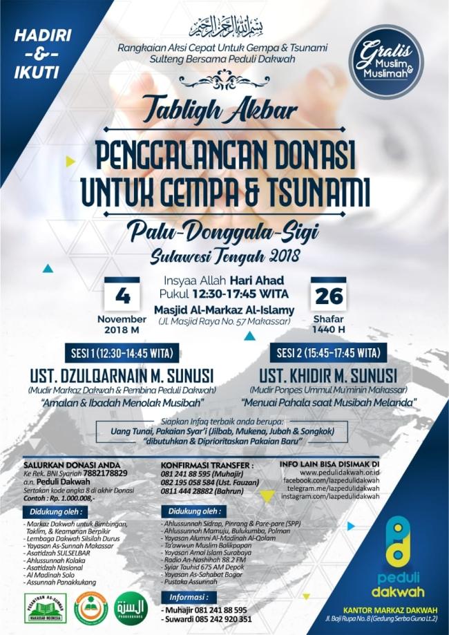 penggalangan dana untuk gempa dan tsunami