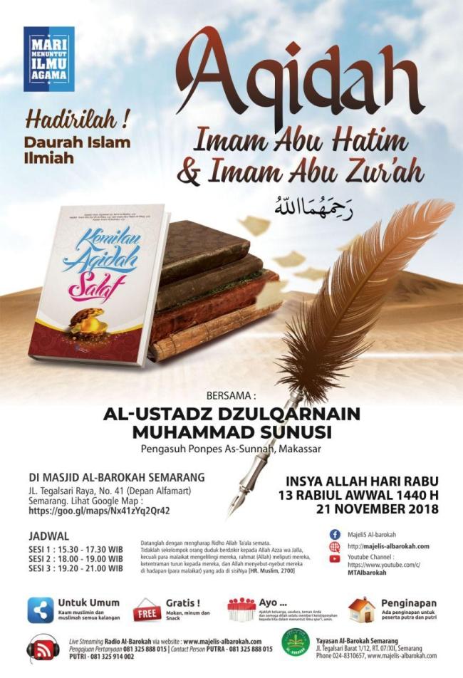 Aqidah Imam Abu Hatim dan Abu Zurah